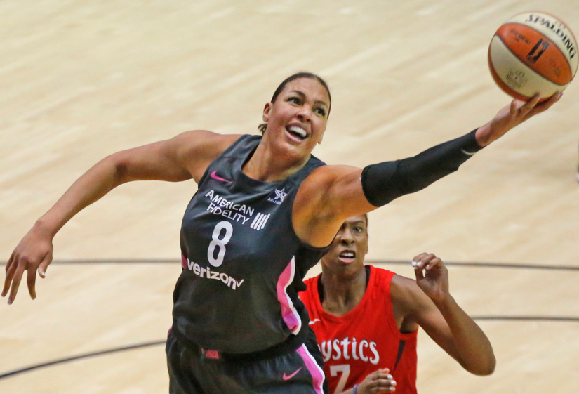 Liz Cambage, a professional basketball player