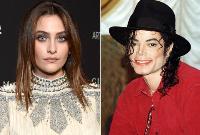 Michael Jackson (R) and his daughter, Paris Jackson (L)