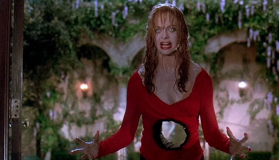 Goldie Hawn in the movie Death Becomes Her