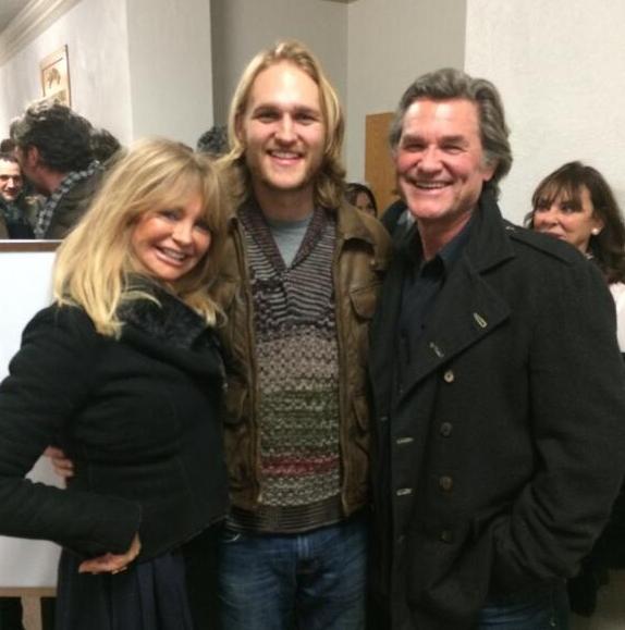Goldie Hawn With Her Son, Wyatt and her boyfriend, Kurt Russell