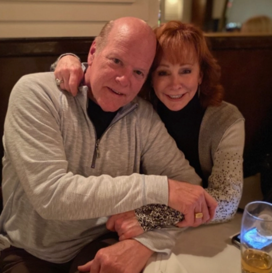 Rex Linn with his new girlfriend, Reba McEntire