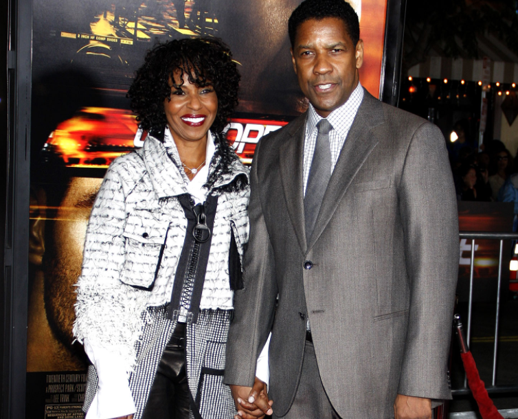Denzel Washington with his wife, Pauletta Pearson