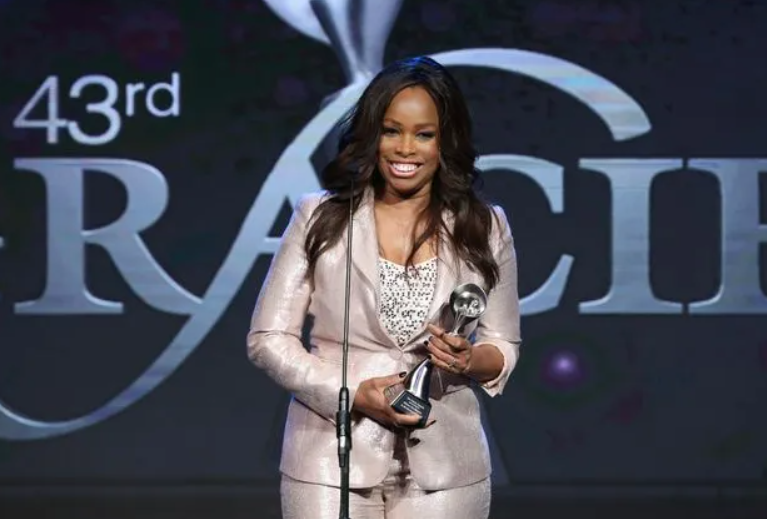 Pam Oliver with Gracie Awards