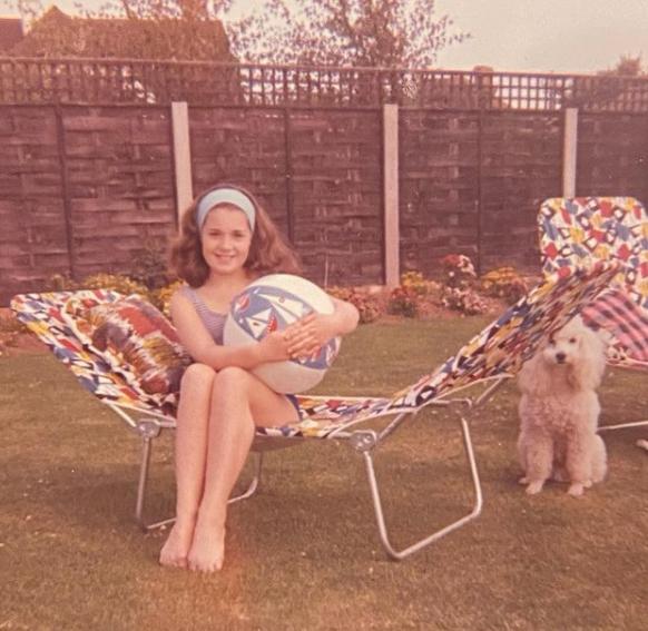 Childhood Picture of Sharon Osbourne
