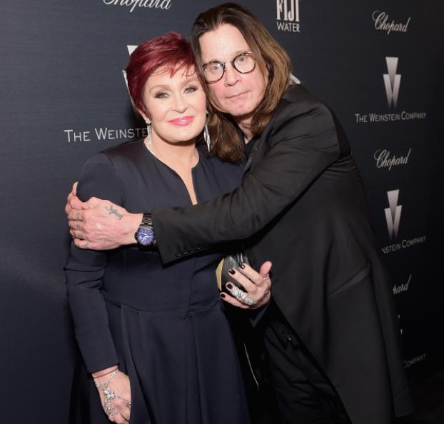 Sharon Osbourne and her spouse, Ozzy Osbourne