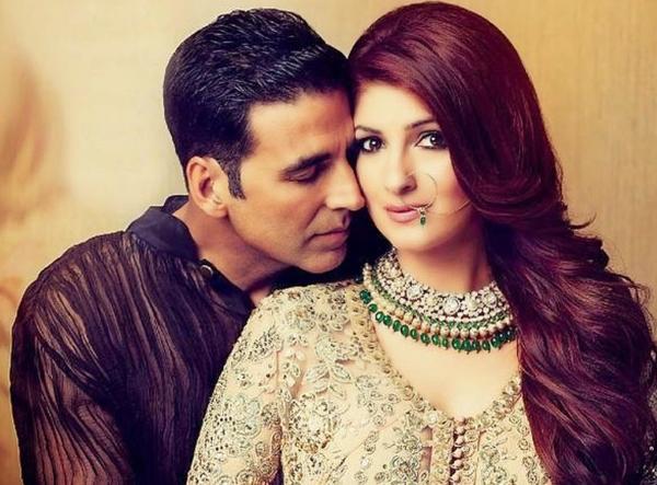 Akshay Kumar with hs wife, Twinkle Khanna