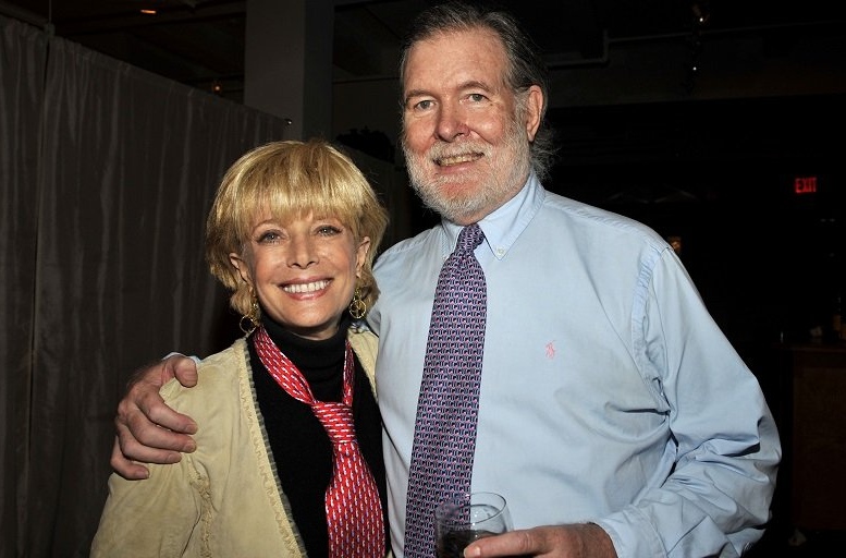 Lesley Stahl and her husband, Aaron Latham