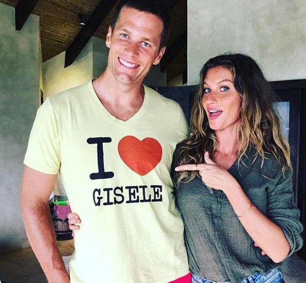 Tom Brady With His Wife