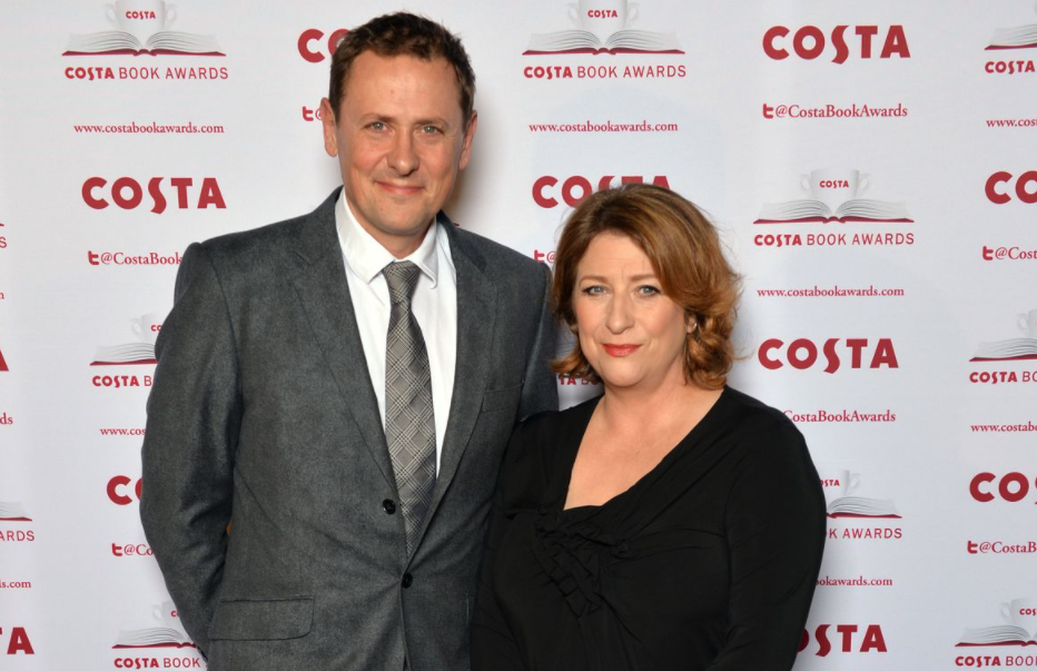 Caroline Quentin with her husband, Sam Farmer