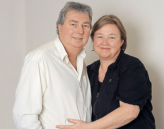 Pauline Quirke with her husband, Steve Sheen
