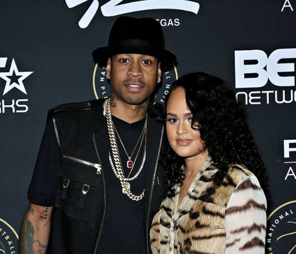 Allen Iverson with his wife