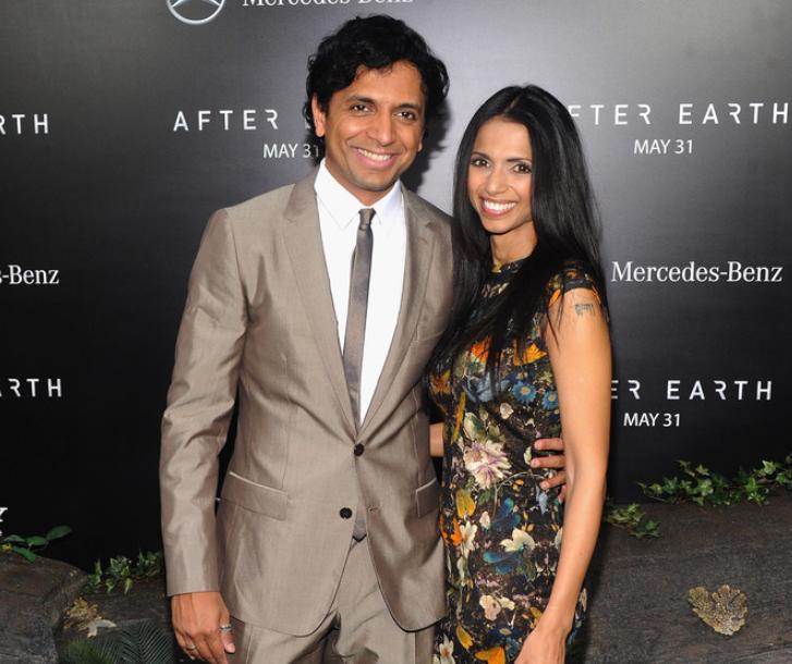 M. Night Shyamalan with his wife, Bhavna Vaswani