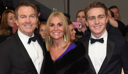 Walsh With His Wife and Son