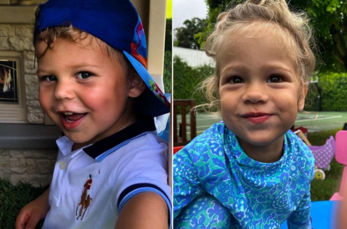Anna Kournikova and Enrique Iglesias Twins Kids, Nicholas and Lucy