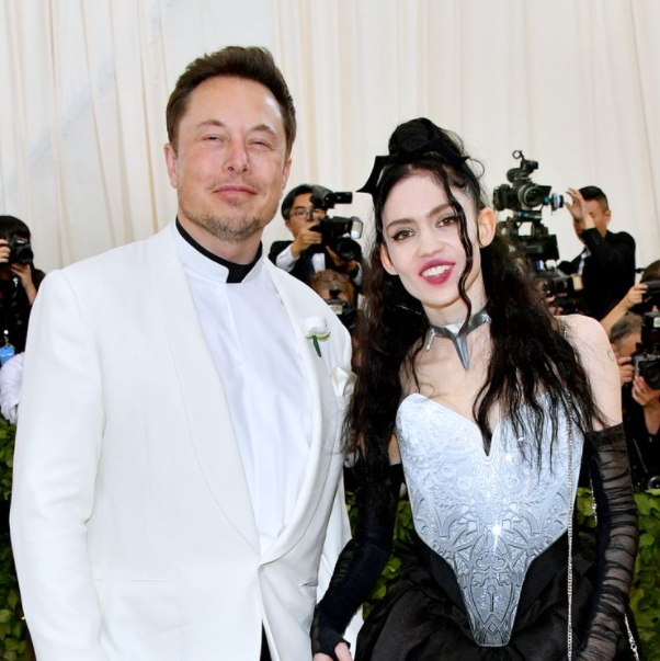 Elon Musk and his girlfriend, Grimes
