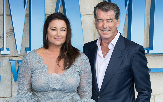 Pierce Brosnan with his wife, Keely Shaye Brosnan