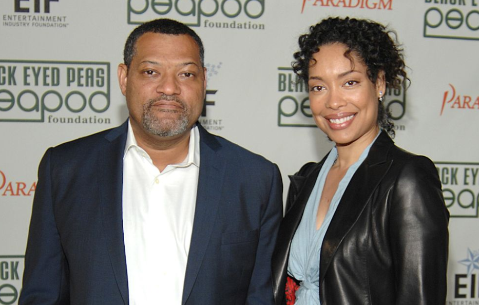 Laurence Fishburne with his ex-wife Gina Torres