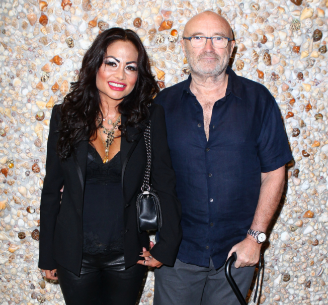Phil Collins and his ex-wife, Orianne Cevey