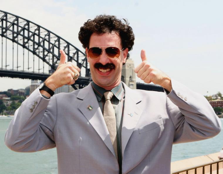 Sacha Baron Cohen in 2006 mockumentary comedy film, Borat