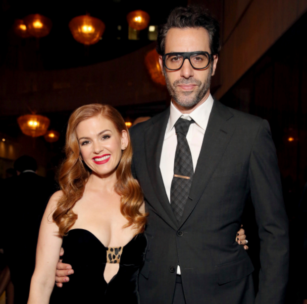 Sacha Baron Cohen with his wife, Isla Fisher