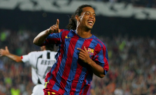 Ronaldinho Cheering After The Goal