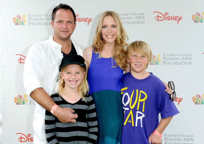 Lauralee Bell with her husband, Scott Martin and their kids