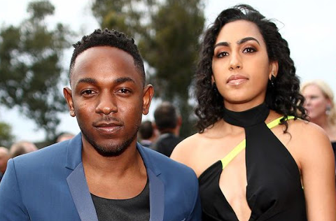 Kendrick Lamar With His Wife Whitney