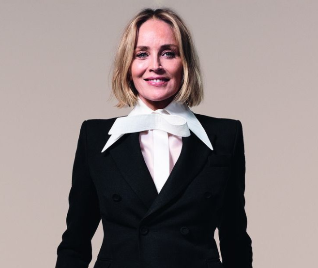 Sharon Stone, a famous actress