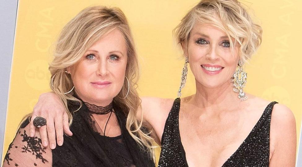 Sharon Stone (R) and sister Kelly Stone (L); Sharon Stone reveals her sister Kelly Stone is battling COVID-19