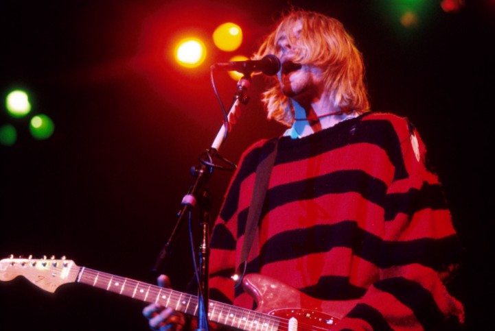 Founder of the band, Nirvana, Kurt Cobain Singing