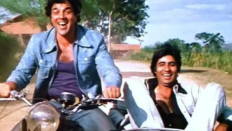 Amitabh Bachchan With Dharmendra in the Superhit Movie Sholay