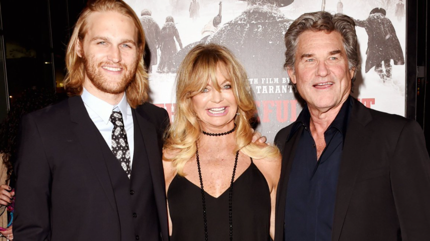 Kurt Russell with Goldie Hawn and their son, Wyatt
