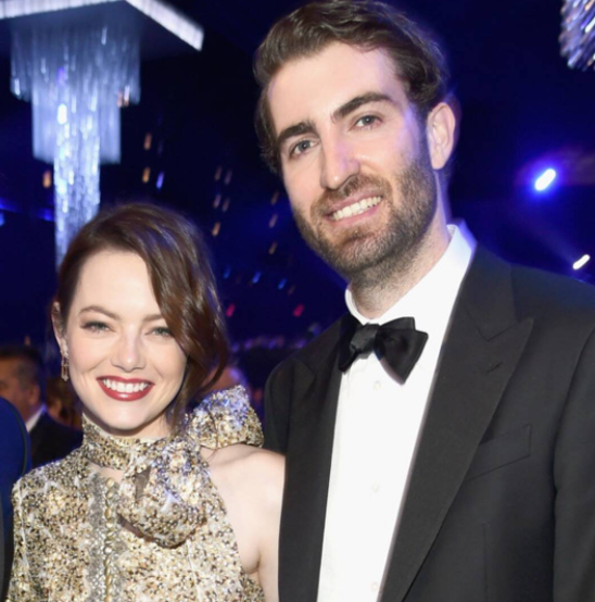 Emma Stone with her husband, Dave McCary