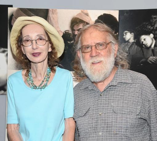Joyce Carol Oates with her late husband Charles Gross