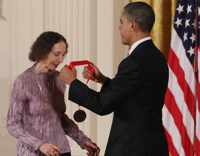 President Obama Awards National Humanities Medal to Joyce Carol Oates