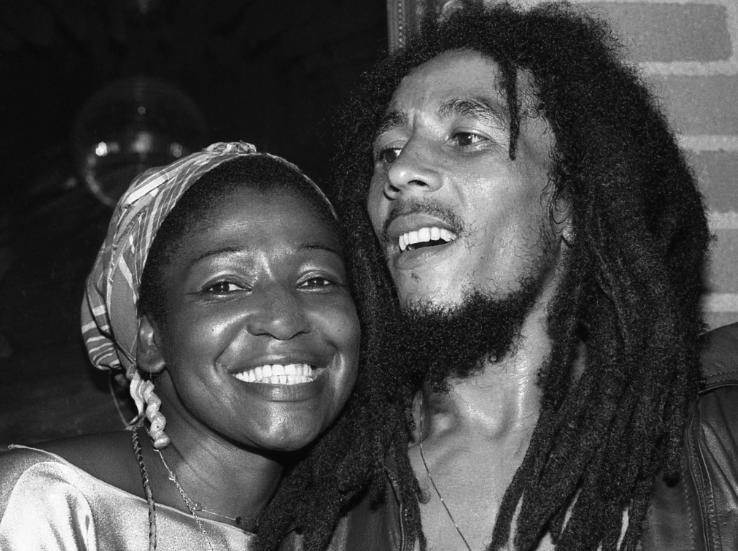 Bob Marley With His Wife, Rita Anderson