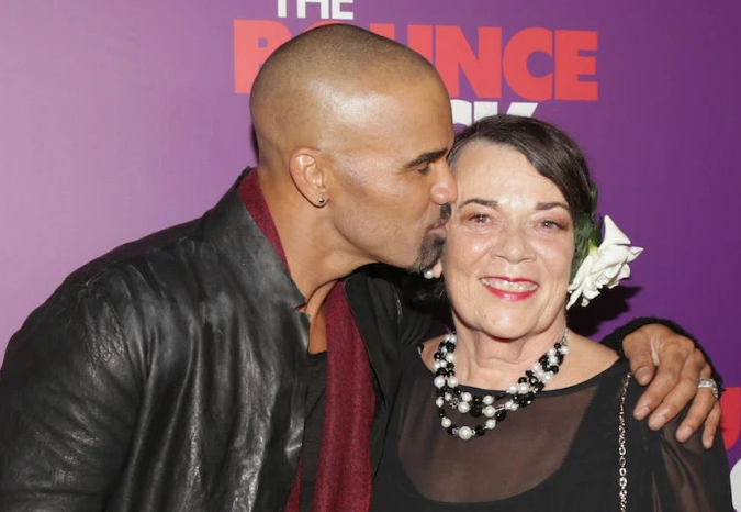 Shemar Moore With His Mother
