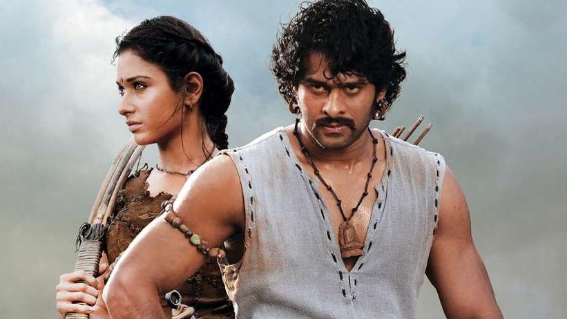 Tamannaah in the film 'Baahubali' with Prabhas