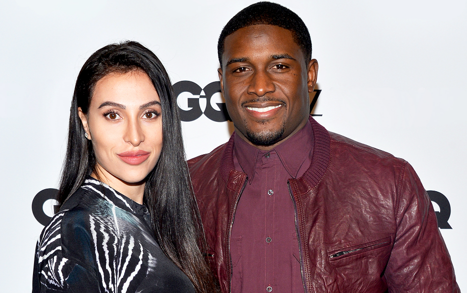 Reggie Bush with his wife, Lilit