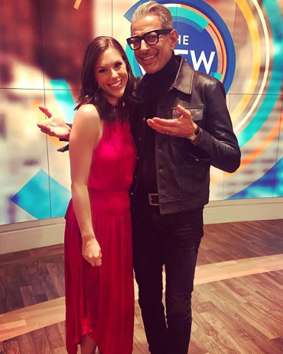 Abby Huntsman With Jeff Goldblum At The View