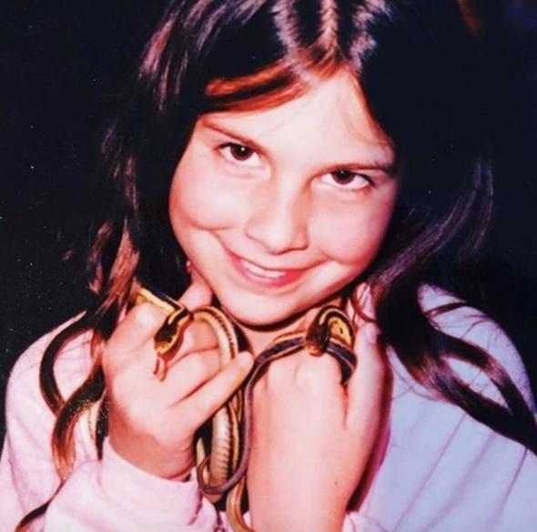 Childhood Picture of Lisa Jakub