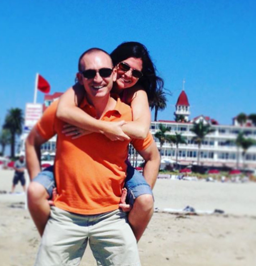 Lisa Jakub and her husband Jeremy Jones