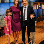 Chuck Todd with his wife and kids