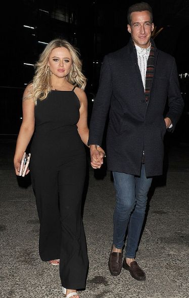 Emily Atack With Rob Jowers