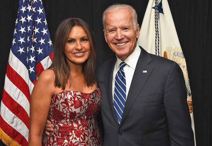 Mariska Hargitay (Left) and Joe Biden (Right); Mariska Hargitay to Speak At DNC