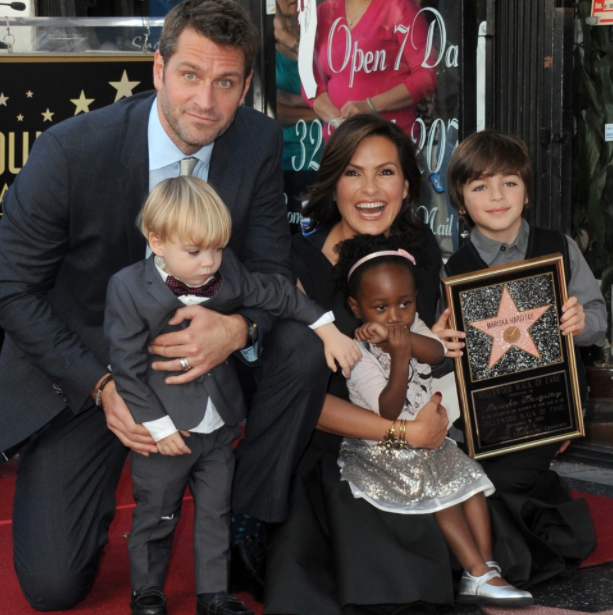 Mariska Hargitay with her husband, Peter Hermann and their kids