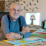 Eric Carle, an American designer, illustrator and author