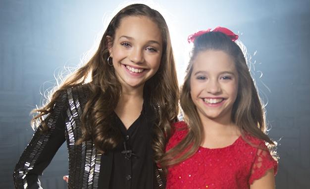 Mackenzie Ziegler with her sister Maddie