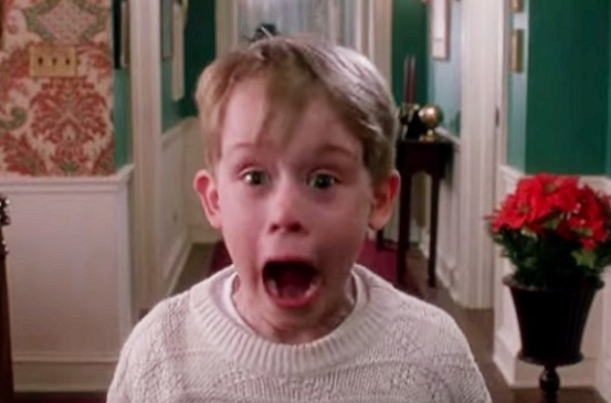 Macaulay Culkin In The Movie Home Alone