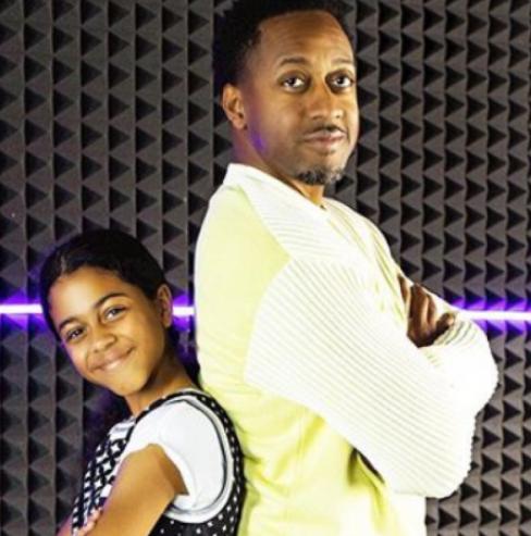 Jaleel White and his daughter, Samaya